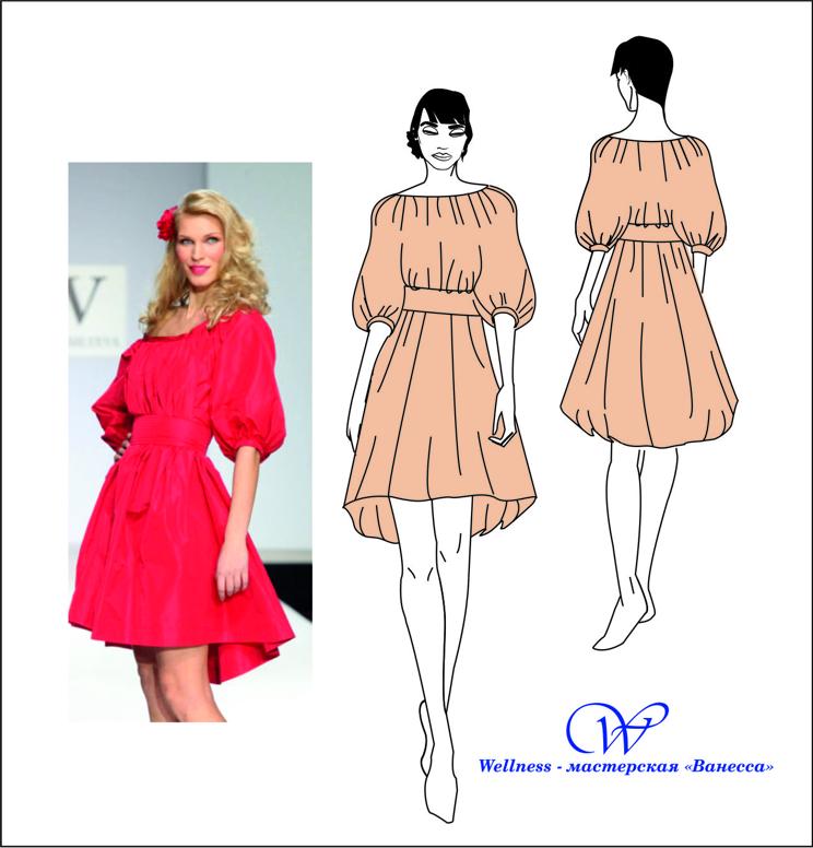 Как сшить платье в крестьянском стиле 38