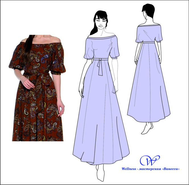 Как сшить платье крестьянка 55