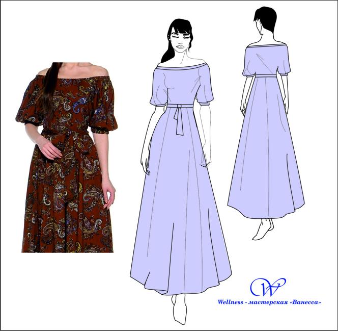 Как сшить платье-крестьянка самой 8